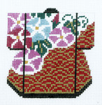 K1059SKU Lee's Needle Arts Petite Kimono Hand-Painted Canvas 3in x 3.5in, 18m