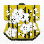 K1063SKU Lee's Needle Arts Yellow Kimono Hand-Painted Canvas 3in x 3.5in, 18m