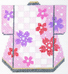 K1090SKU Lee's Needle Arts Petite Kimono Hand-Painted Canvas 3in x 3.5in, 18m