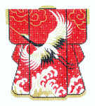 KB04SKU Lee's Needle Arts Wedding Kimono Hand-Painted Canvas 5in x 6in, 18m