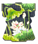 KB16SKU Lee's Needle Arts Lotus Kimono Hand-Painted Canvas 5in x 6in, 18m