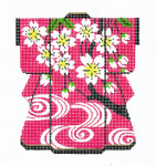KB26SKU Lee's Needle Arts Cherry Blossoms/Pink Hand-Painted Canvas 5in x 6in, 18m