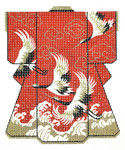 SPM120SKU Lee's Needle Arts Wedding Kimono Hand-Painted Canvas 8in x 10in, 16m