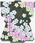 SPM311SKU Lee's Needle Arts Cherry Blossoms/Green Kimono Hand-Painted Canvas 8in x 10in, 18m
