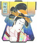 SPM320SKU Lee's Needle Arts Geisha Kimono Hand-Painted Canvas 8in x 10in, 18m