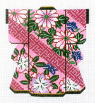 KB52SKU Lee's Needle Arts Pink Daisies on Pink Kimono 18M 5in x 6in