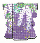 KB46SKU Lee's Needle Arts Purple Vines Kimono 18M 5in. x 6in.