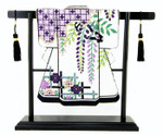"ST04SKU Lee's Needle Arts Black Stand with Tassels for 5 in x 6"" Kimono 5in. x 6in."