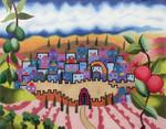 J205SKU Lee's Needle Arts Tallis Bag  Hand-painted canvas - 13 Mesh  Artist: Rebecca Shore 14in X 11inTallis Bag