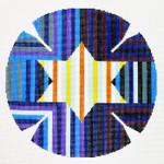 J156SKU Lee's Needle Arts  Yarmulke Hand-Painted Canvas 7.5in Round, 18m