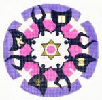 J180SKU Lee's Needle Arts Yarmulke Hand-Painted Canvas 7.5in Round, 18m