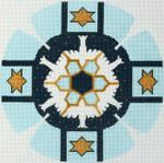 J214SKU Lee's Needle Arts Yarmulke Hand-Painted Canvas 7.5in Round, 13m
