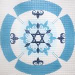 J218SKU Lee's Needle Arts Yarmulke Hand-Painted Canvas 7.5in Round, 13m