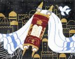 J101SKU Lee's Needle Arts Tallis Bag Hand-Painted Canvas 14x11, 13M
