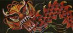 BB79 Lee's Needle Arts Year Of The Dragon - Leigh Design Exclusive  Hand-painted canvas - 18 Mesh 2011 6in x 2.75in