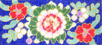 BB23SKU Lee's Needle Arts Cloisonne Peony Hand-painted canvas - 18 Mesh 6in. X 2.75in.