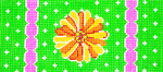 BB47SKU Lee's Needle Arts Daisy/Yellow Hand-painted canvas - 18 Mesh 6in. X 2.75in.