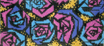 BB72SKU Lee's Needle Arts Modern Rosesc Hand Painted Canvas - 18 Mesh 6in x 2.75in
