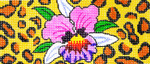 BB40SKU Lee's Needle Arts Orchid/ Animal Skin Hand-painted canvas - 18 Mesh 6in. X 2.75in.