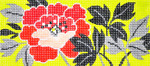 BB53SKU Lee's Needle Arts Red Peony Hand-painted canvas - 18 Mesh 6in. X 2.75in.