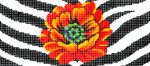 BB39SKU Lee's Needle Arts Poppy/ Animal Skin Hand-painted canvas - 18 Mesh 6in. X 2.75in.