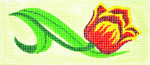 BB59 Lee's Needle Arts  Tulip Hand-painted canvas - 18 Mesh 6in. X 2.75in.