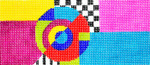 BB60SKU Lee's Needle Arts Geometric Hand-painted canvas - 18 Mesh 6in. X 2.75in.