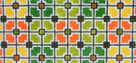 BB73SKU Lee's Needle Arts Geometric Squares Hand Painted Canvas - 18 Mesh 6in x 2.75in