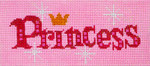 BB63SKU Lee's Needle Arts Princess Hand-painted canvas - 18 Mesh 6in. X 2.75in.