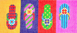 BB44SKU Lee's Needle Arts Sandals Hand-painted canvas - 18 Mesh 6in. X 2.75in.
