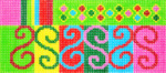 BB34SKU Lee's Needle Arts Squiggles Hand-painted canvas - 18 Mesh 6in. X 2.75in.