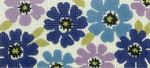 BB74SKU Lee's Needle Arts Lavender Floral Hand Painted Canvas - 18 Mesh 6in x 2.75in