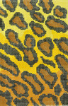 BC10 Lee's Needle Arts Leopard Skin Hand-painted canvas - 18 Mesh Use canvas with Leather Goods BAG49 3.5in. x 5in.