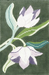 BC01SKU Lee's Needle Arts Tulip Hand-painted canvas - 18 Mesh Use canvas with Leather Goods BAG49 3.5in. x 5in.