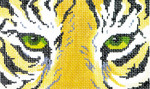 BD08SKU Lee's Needle Arts Tiger Hand-painted canvas - 18 Mesh 5.25in. X 3.25in.