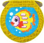 BAG06AY Lee's Needle Arts Alligator Yellow Hand Mirror