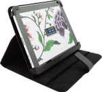 BAG62B Lee's Needle Arts iPad Cover, Black Leather iPad Cover 8in x 10in x 1in