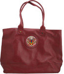 BAG48M Lee's Needle Arts Maroon Leather Modern Bag W17in. x H10in. x D5in.