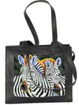 BAG24 Lee's Needle Arts Leather Zip-Top Tote Bag W12.5` x H10` x D5in.