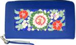 BAG27BL Lee's Needle Arts Wallet, Zip-Top, Lizard Royal Blue W8in. x H4.5in.