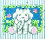 WH1325 Lee's Needle Arts Elephant BaZoople Hand-painted canvas - 18 Mesh 12in. x 10in.