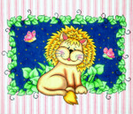 WH1324 Lee's Needle Arts Lion BaZoople Hand-painted canvas - 18 Mesh 12in. x 10in.