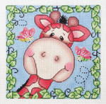 AO1302SKU Lee's Needle Arts Gertrude the Giraffe Hand-Painted Canvas - 13 Mesh 7in X 7in