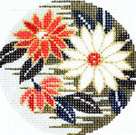BJ52 Lee's Needle Arts Chrysanthemum Hand-painted canvas - 18 Mesh 3in. ROUND