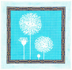 AO1247-WSKU Lee's Needle Arts Dandelion Hand-painted canvas - 18 Mesh 7in. X 7in.