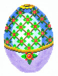 XM456SKU Lee's Needle Arts Faberge Egg Hand-Painted Canvas 3in x 4in, 18m