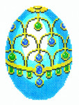 XM458SKU Lee's Needle Arts Faberge Egg Hand-Painted Canvas 3in x 4in, 18m