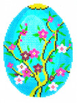 XM462SKU Lee's Needle Arts Faberge Egg Hand-Painted Canvas 3in x 4in, 18m