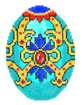 XM478SKU Lee's Needle Arts Faberge Egg Hand-Painted Canvas 3in x 4in, 18m