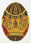 XM497SKU Lee's Needle Arts  Faberge Egg Hand-Painted Canvas 3in x 4in, 18m